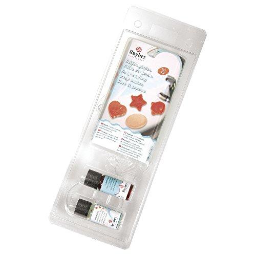 RAYHER 36002000 Seifen Set mit 4 Formen, transparenter Seifenblock, duftöl