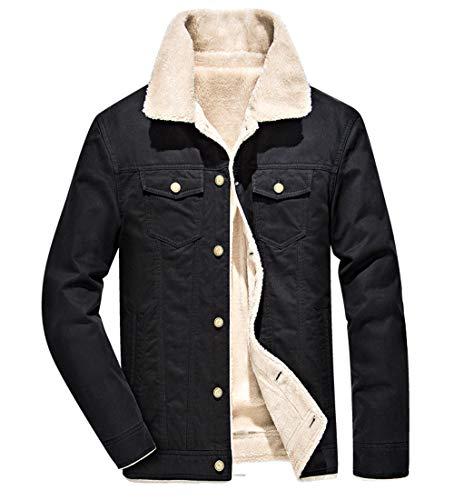 Mens Jackets, Fashion Warm Thick Fur Collar Coat Jacket Faux Fur Parka Outwear Cardigan