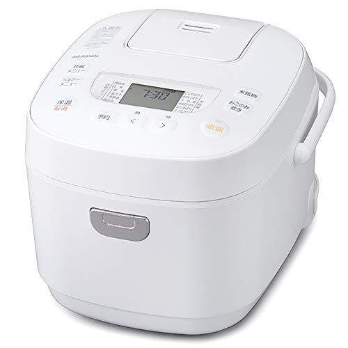 アイリスオーヤマ 炊飯器 5.5合 マイコン式 40銘柄炊き分け機能 極厚火釜 玄米 2020年モデル ホワイト RC-ME50-W