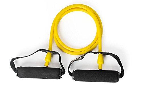 DITTMANN Body Tube Deluxe Fitnessband Expander gelb/leicht Schaumstoffgriff