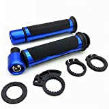 Mango De 22MM para Motocicleta, Agarre De Bicicleta, Manillar De Goma para YA-MAHA Virago 250 R1 2007 Mt07 Xt660 Dragstar 1100 (Color : Azul)