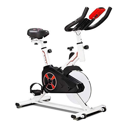 WJFXJQ Correa de transmisión silenciosa Ejercicio Bicicleta estacionaria de Bicicletas, Asiento Ajustable y el Manillar, Monitor LCD, Monitor de Ritmo cardíaco