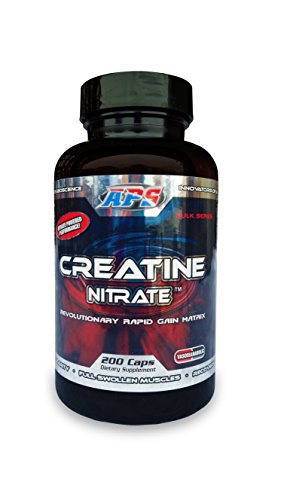 APS Nutrition Creatine Nitrate Revolutionary Rapid Gain Matrix For Vascularity Strength ATP Elevation And Recovery 200 Capsules