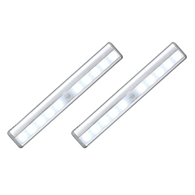 OXYLED T-02 Stick-on Anywhere Portable 10 LED Wireless Motion Sensing Light Bar with Magnetic Strip (Battery Operated)