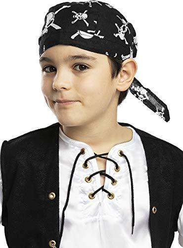 Funidelia | Pañuelo Pirata Negro para niño y niña ▶ Cor