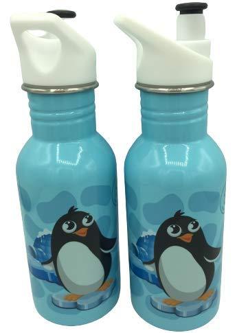WR Botella de Agua de Acero Inoxidable con Aislamiento al vacío Botella de Bebida de Doble Pared 500ml (Azul-Ping)