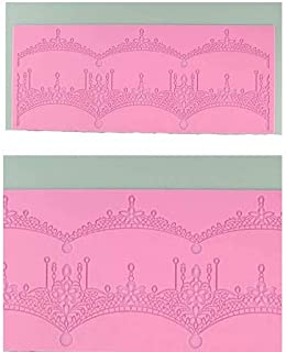 S.Han Silicone Cake Border Lace Fondant Mould Baking Cake Decorating Tool
