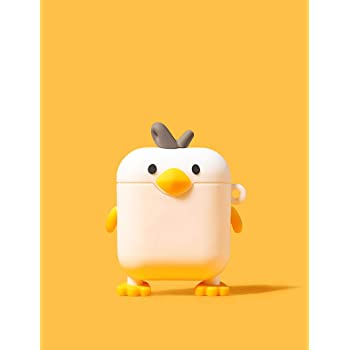 Cute AirPods 1 2 Pro Case Cover Cartoon Funny Silicone Airpods case Standing Chick Shape Cover for Air pods 1 2