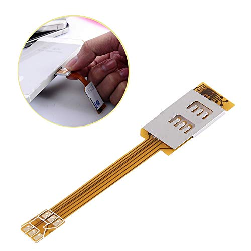 Ximimark Dual SIM Cards Adapter for iphone6 5S Single Standby Flex Cable Ribbon 1Pcs