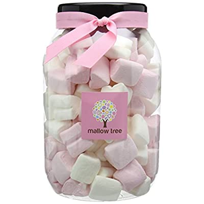 mallow tree strawberry flavoured marshmallow hearts in a gift jar, 600g Mallow Tree Strawberry Flavoured Marshmallow Hearts in a Gift Jar, 600g 41EAAFU6smL