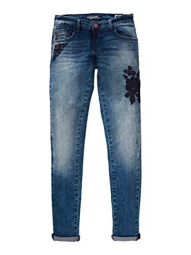 Petrol Industries jeans bloemenborduurwerk