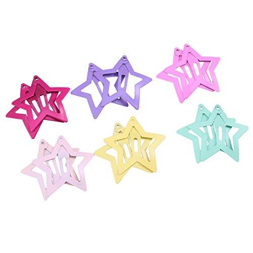 Lurrose 12 Stücke Baby Haarspangen Haarschmuck Sterne für Babys Mädchen Kleinkinder Kinder