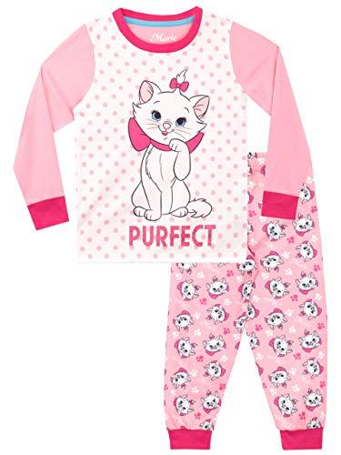 Disney Pijamas de Manga Larga para niñas Aristocats Rosa 5-6 Años