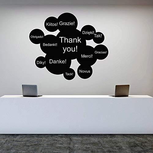 YuanMinglu Merci pour Vos Mots Vinyle Stickers muraux Bureau des Affaires internationales Stickers décoratifs décoration de la Maison Salon Papier Peint 35X42CM