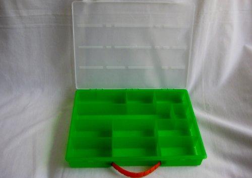 Romanoff Rainbow Loom Large Organizer Box, Fits 2 Looms, Smooth Top, Lime