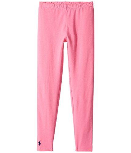 Polo Ralph Lauren Kids Girl's Solid Jersey Leggings (Little Kids/Big Kids) Baja Pink XL (16 Big Kids)