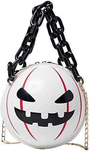 ZSW - Bolso Redondo de Calabaza para Mujer, Bolso Cruzado de Diablo de Halloween, Bolso de Truco o Trato-1