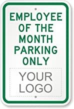 Joycenie New Sign Employee of The Month Parking Only (with Logo) Sign 12''x18''