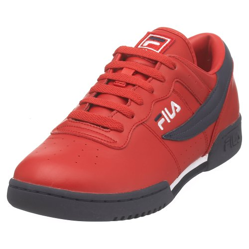 Fila Men's Original Fitness Fashion Sneaker, Red/Navy/White, 10 M US