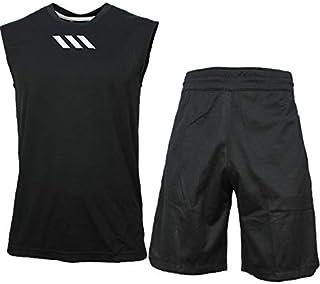 アディダス ノースリーブ + パンツ 上下 メンズ トレーニングウェア バスケ FTC06 FLH29 2カラー 半袖 + ハーフ adidas
