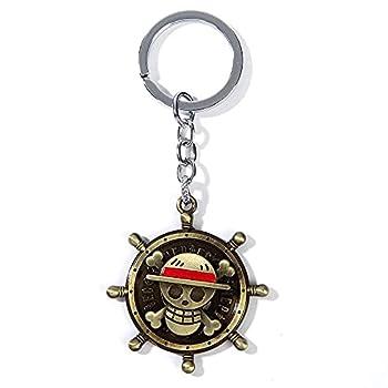 One Piece Keychain Pirate Skull Key Chain Bronze-colored