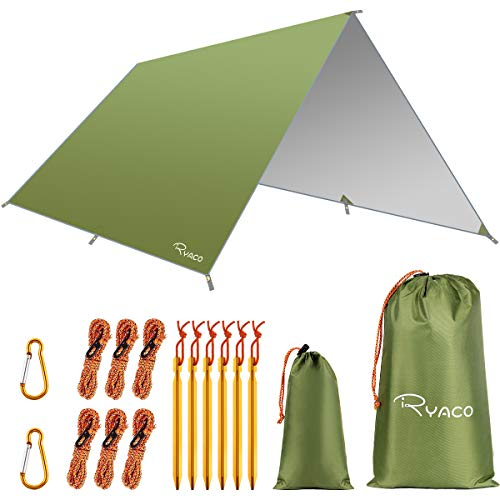 RYACO Bâche Anti-Pluie, Camping Bâche Rain Tarp...