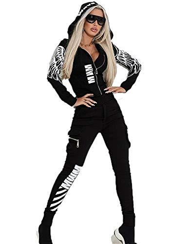 Tuta Sportiva Casual da Donna Street Fashion - Ali d'Angelo Stampa Felpa con Cappuccio Felpa con Cappuccio Pantaloni Jogger Piedi Pantaloni Pantaloni Sportivi