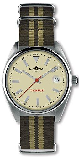 Mondia campus orologio Uomo Analogico Automatico con cinturino in Nylon MI728-2CT