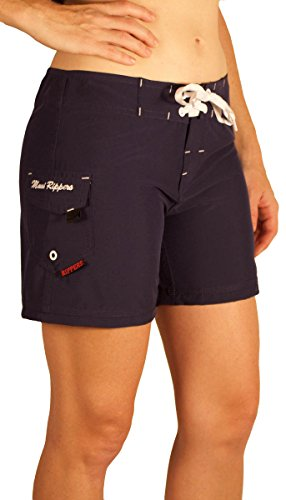 "Maui Rippers Women's 4-Way Stretch 5"" Swim Shorts Boardshorts (08, Navy)"