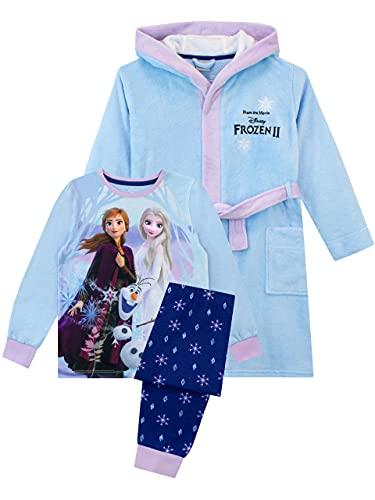 Disney Pijamas para Niñas Frozen Azul...