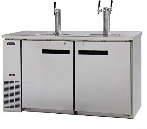 Kegco Kegerator Commercial Grade Three Keg Dispenser - Three Faucet