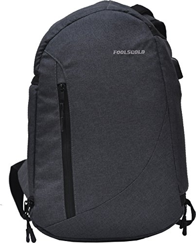 foolsGold Professional Dual Access DSLR Camera Backpack with USB in Charcoal Grey