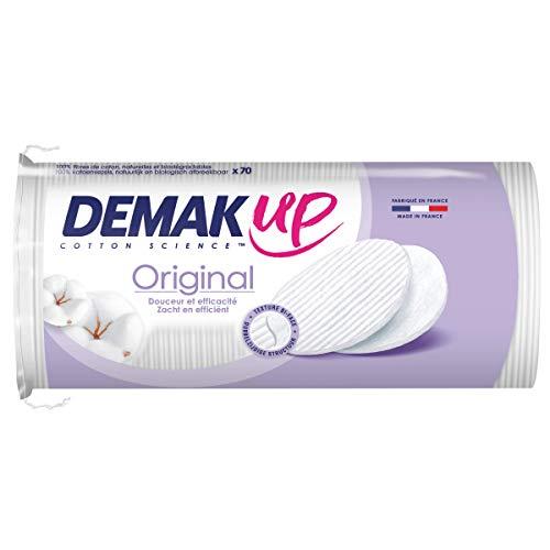 Demak'Up Original - 70 discos de algodón desmaquillantes, ovales, 7 x 9 x 20 cm