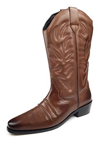 Gringos Men's KANSAS Western Cowboy Boots 6 UK Brown