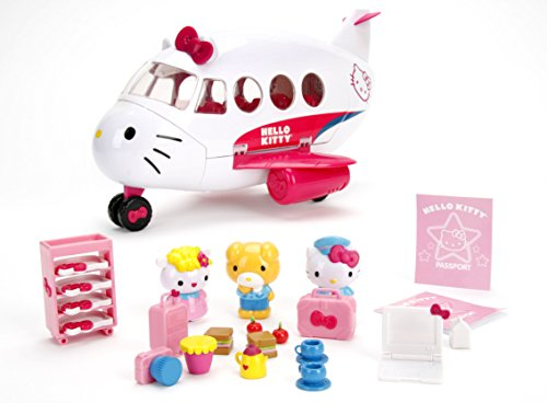 Jada Jet Plane Play Set with Hello Kitty & 2 Friend Figures