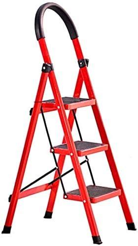 Panier sale Escabeau Trois Escabeau, Quatre Escabeau école/Bureau/société escabeaux Red Escabeau chaises Pliantes (Size : 47 * 59 * 123cm)
