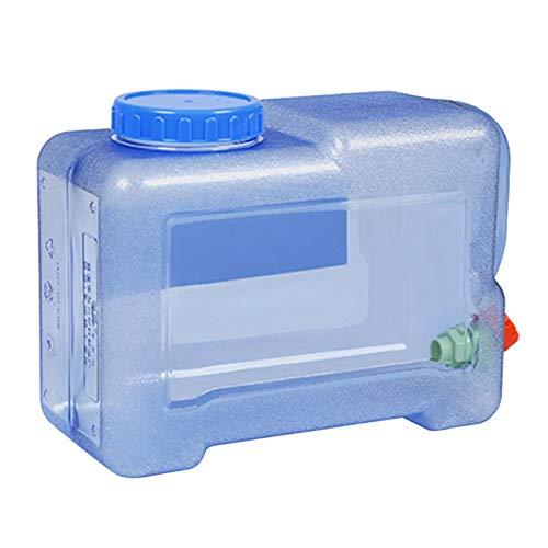 ampusanal Cubo de plástico de 8L Jarra portátil para Almacenamiento de Agua Hervidor de Agua de Emergencia con Grifo para Exteriores Senderismo Camping Picnic Tour de conducción autónoma apposite