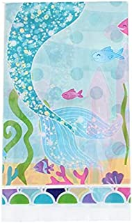 Mermaid Party Underwater World Tablecloths Happy Birthday Party Decor Table Cover Baby Shower Party Supplies