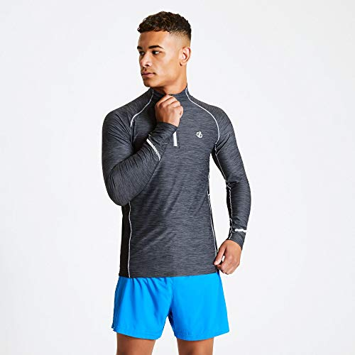 Dare 2b Maillot Cycle Manches Longues REACTICATE II Stretch Midlayer Homme, Black/Black, FR : 3XL (Taille Fabricant : XXXL)