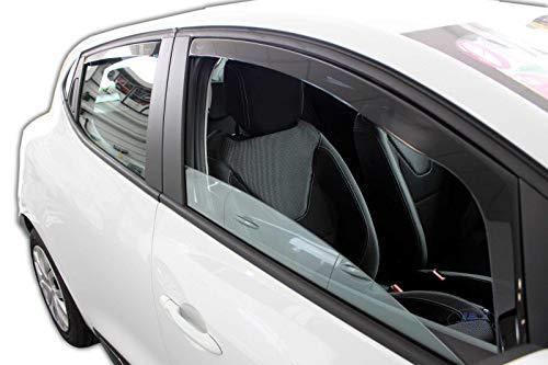 J&J AUTOMOTIVE | Deflecteurs d'air Déflecteurs de Vent Compatible avec Clio IV 5 Portes 2012-2019 4pcs