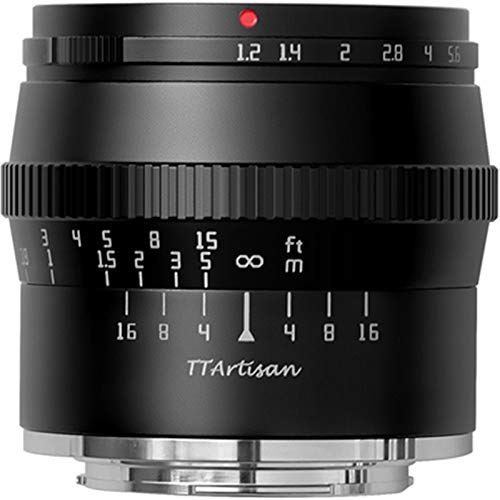 TTArtisan 50mm F1.2 APS-Cマニュアルフォーカスカメラレンズ 富士フイルム Xマウントカメラ用 X-M1 X-M2 X-H1 X-T1 X-T10 X-T2 X-T20 X-T3 X-T4 X-T100 X-T200 X-T30 X-PR01 X-PR02 X-PR03 X-E1 X-A7 (FUJI X-mount)