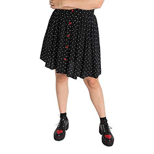 Hell bunny Allie Skirt dam mellanstor kjol svart/vit