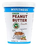 MYFITNESS Gold Natural Peanut Butter Smooth 1Kg (Unsweetened) weight loss protein shakes Jan, 2021