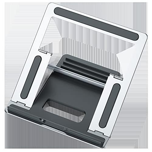 seeryou COTABLE Soporte PLATABLE Completo Metal LOTENCIA COMPUTADORA DE ENFRIAMIENTO PORTEPORTE por Multi-ángulo (Negro, Plateado) (Color : Gray)