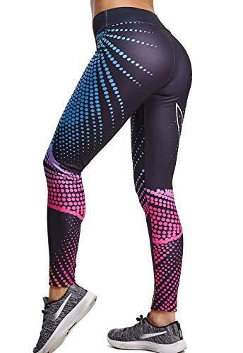 FITTOO Mallas Pantalones Deportivos Leggings Mujer Yoga de Alta Cintura Elásticos y Transpirables para Yoga Running Fitness con Gran Elásticos890 Negro S