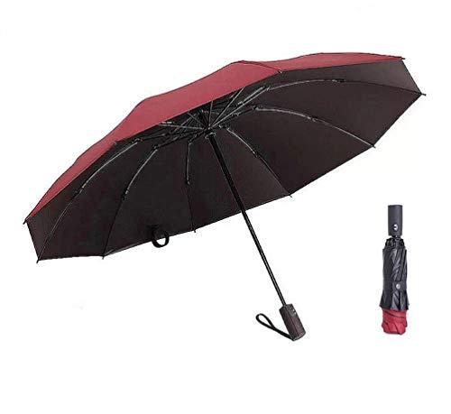 YTONGS Ombrello pieghevole, Red (Rosso) - Reverse Compact Folding Umbrella