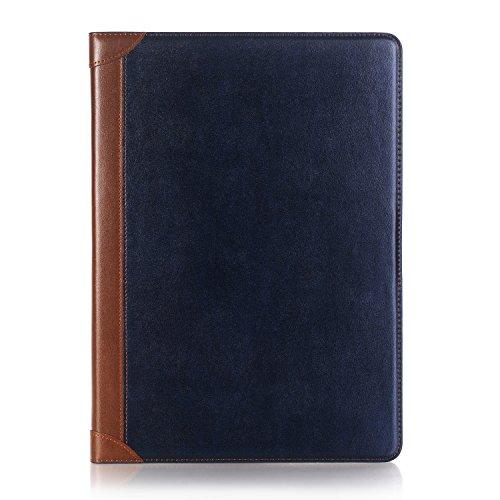 Capa para iPad 6ª/5ª geração 2018/2017 9,7 polegadas, iPad Air 1/iPad Air 2 9,7 polegadas, capa de couro com suporte de design de livro DMAOS, capa de carteira de couro para dormir/despertar automática, suporte de cartão, Azul, For Apple iPad 9.7 inch