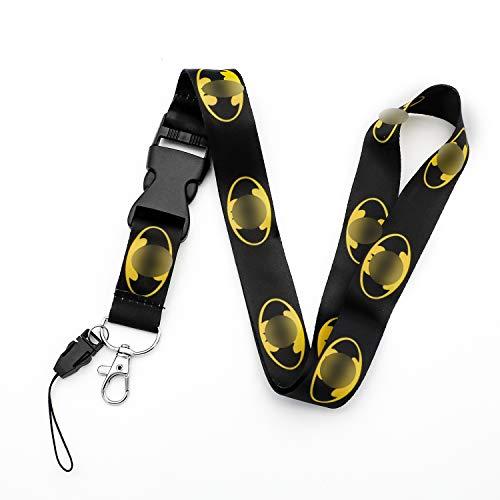 Porte-clés avec logo Batman - Noir