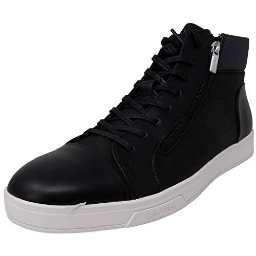 Calvin Klein Men's Balthazar Smooth/Cobble/Nylon Black High-Top Nylon Fashion Sneaker - 9.5M