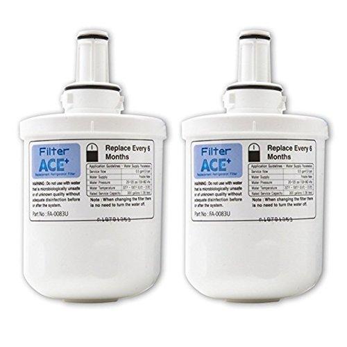 ACE+ Wasserfilter kompatibel mit Samsung DA29-00003G, HAFIN2/EXP, DA29-00003F, HAFIN1/EXP, DA29-00003B, HAFIN Kühlschrankfilter - Replacement Refrigerator Filter (2er Pack)